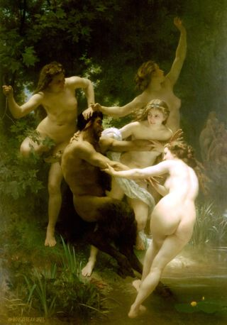 William Adolphe Bouguereau Nymphs_and_Satyr_1873