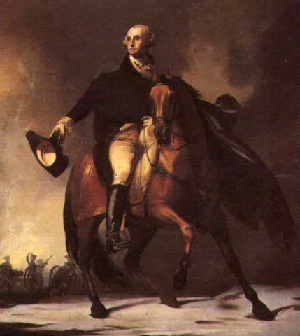 Washington mounted