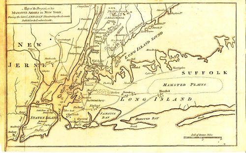 War map New York environs