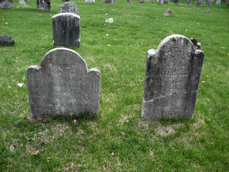 Jonathan Ingersoll and Dorcas Moss headstones