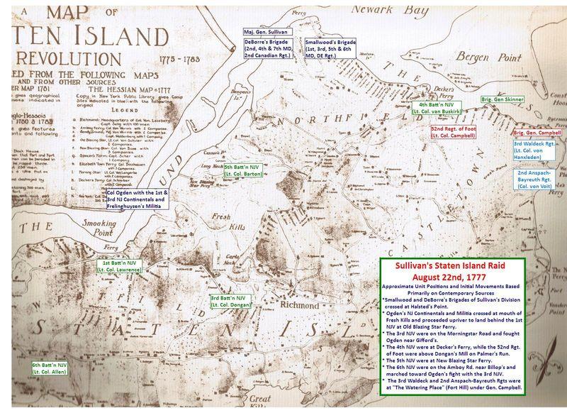 Sullivan's Raid initial positions