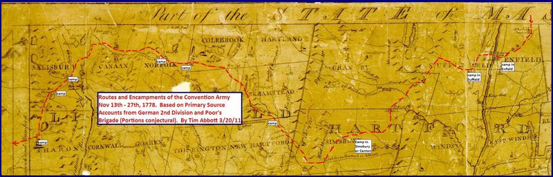 Convention Army on 1792 Blodget Map